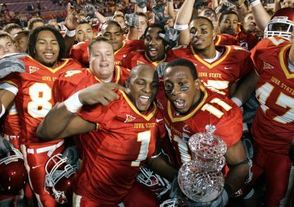 Ellis Hobbs (11) helped ISU win the 2004 Independence Bowl. (Photo courtesy ISU Athletics Communications)