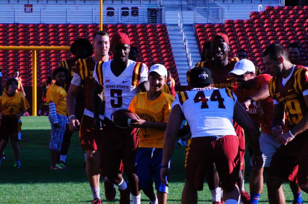 Touchdown? You bet. Another one from ISU's Victory Day on Aug. 27, 2016.