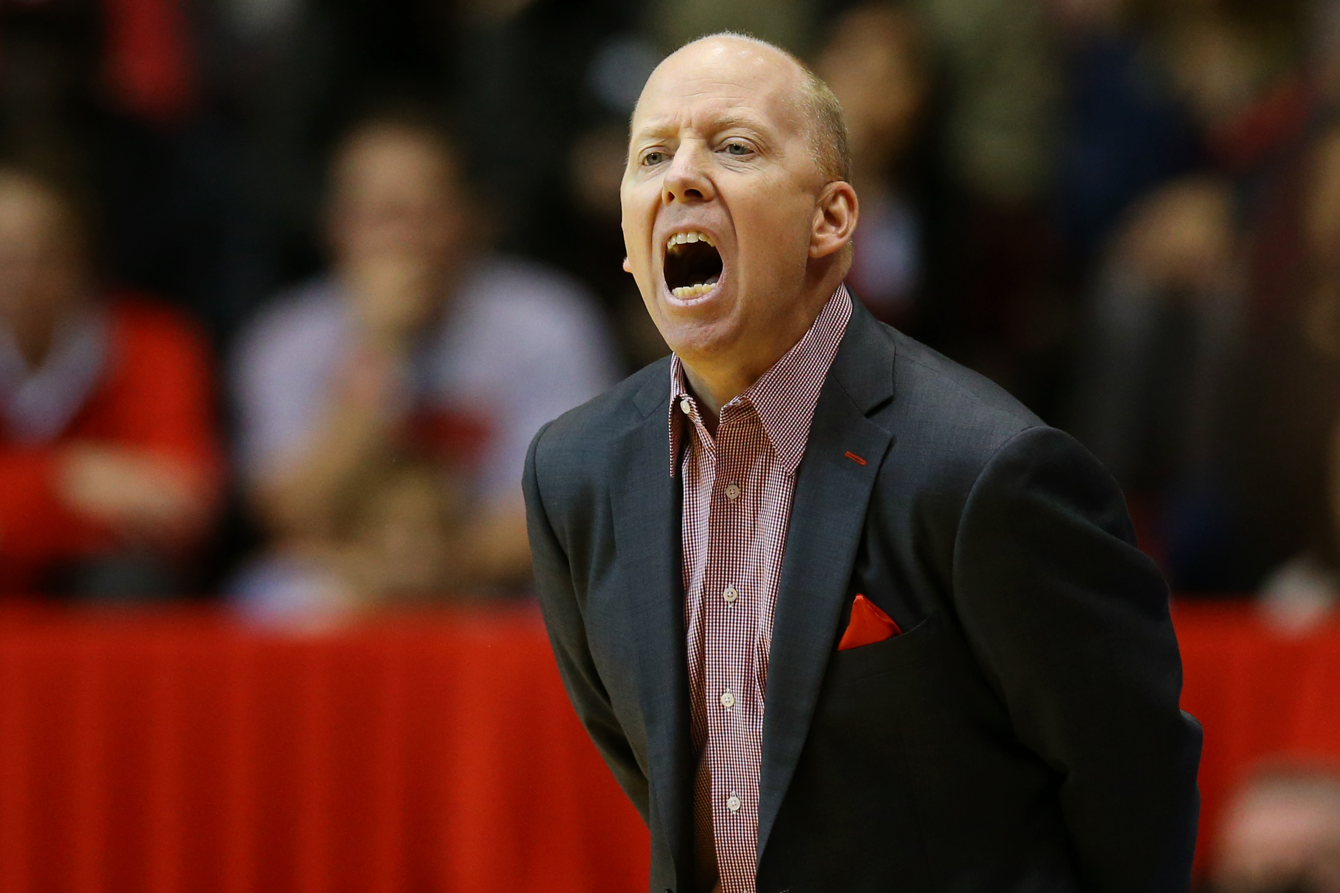 Nov 26, 2016; Cincinnati, OH, USA; Cincinnati Bearcats head coach Mick Cronin reacts from the bench against the Lipscomb Bisons in the first half at Fifth Third Arena. Mandatory Credit: Aaron Doster-USA TODAY Sports