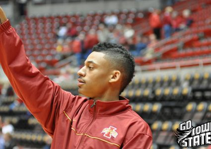 lg Diante Garrett warm up vs Montana St