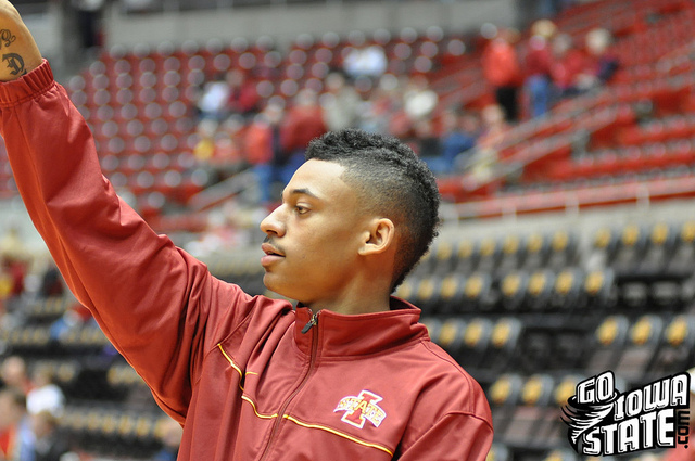 lg Diante Garrett warm up vs Montana St1