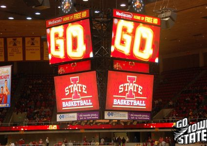 lg Iowa State Basketball scoreboard