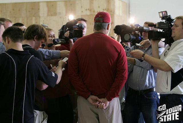 lg Paul Rhoads meets media