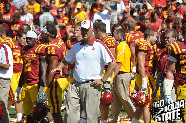 lg Paul Rhoads sideline vs Iowa 20112