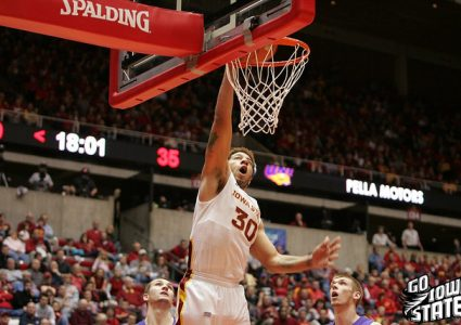 lg Royce White dunks vs UNI